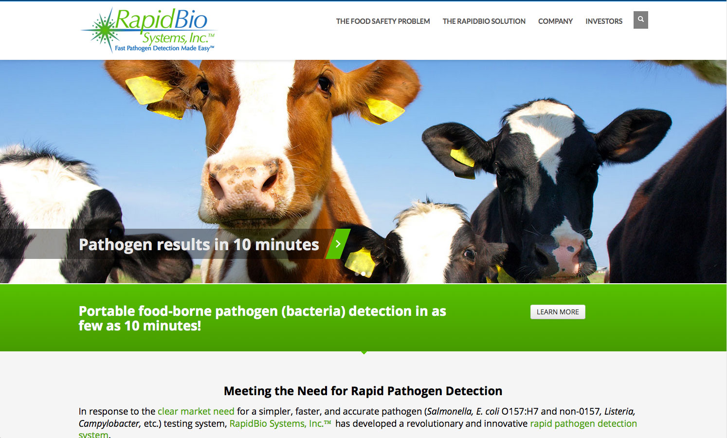 RapidBio Systems Website