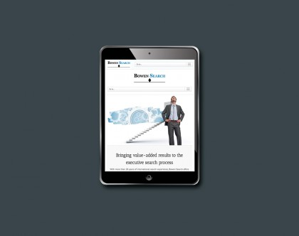 Website viewed on iPad or tablet