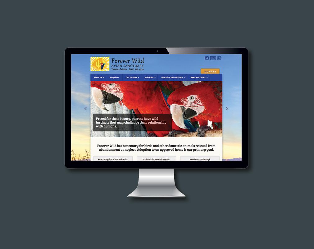 Website view on desktop or laptop